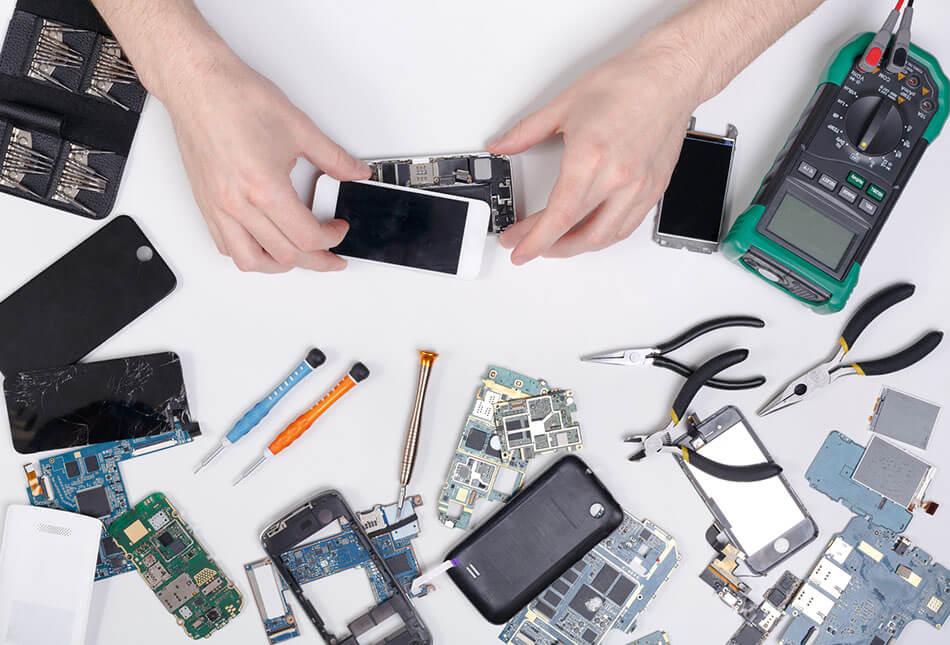 iphone機身拆解資料救援過程圖