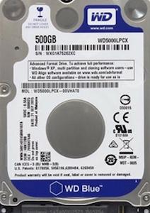 筆電使用的2.5吋傳統硬碟