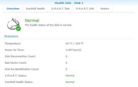 NAS硬碟監控健康度的資訊